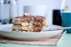 Oatmeal Cookie Pancakes with Cinnamon Butter | Bake Your Day