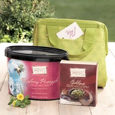 Keep it Cool™ Gift - Giddyup Guacamole™, a Blueberry Pineapple Margarita Mix drink bucket, and an insulated cooler to keep it delightfully chilled! $37.95 www.tastefullysimple.com/web/apearson2