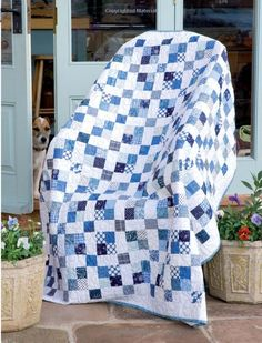 Jelly Roll Quilts by Pam & Nicky Lintott - I think I need a blue & white quilt  :-)