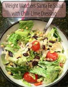 Weight Watchers Santa Fe Salad with Chili-Lime Dressing - only 3 points!