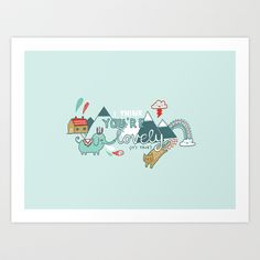 I Think You're Lovely Art Print by Gemma Correll - $18.00