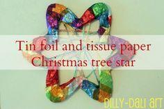 Christmas Tree Star {Dilly-Dali Art} #ChristmasWonderland