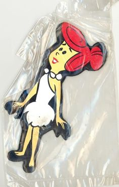Wilma Flintstone magnet had it on my fridge with barney