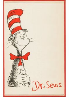 used by Theodor Seuss Geisel to respond to fan mail....Dr. Seuss