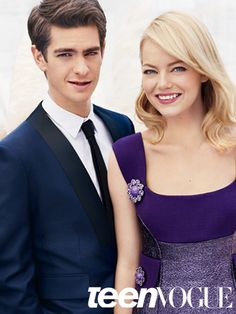 #Emma #Stone and #Andrew #Garfield for Teen Vogue