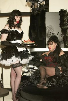 Hypnotized Sissy Maid but the maid does not look as if they she is trying to please mistress.