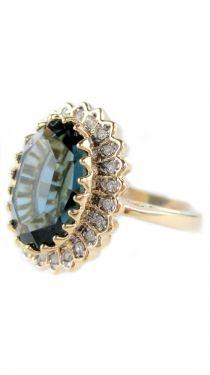 18 Kt. Gold Plated English Royal Ring, Gold
