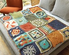 Chain Reaction Crochet Afghan Project from Crochet Me, FREE PATTERN!.