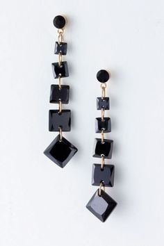 Jet Catelynn Earrings on Emma Stine Limited
