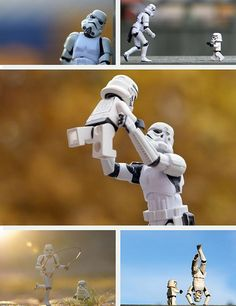 The softer side of storm troopers.  This entire album of photos is totally amazing and hilarious.  LOVED every one of them!  Brilliant.  Photos by Kristina Alexanderson