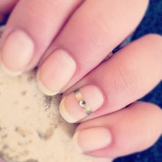 The ring finger would be cute bare or with a french manicure.