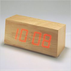 Wooden Clock by Kouji Iwasaki - minimal and simple, beautiful and functional