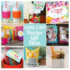 Very cute end-of-the-school-year teacher gifts!