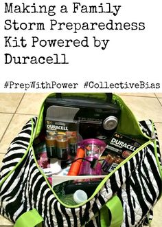 Making a Family Storm Preparedness Kit Powered by Duracell! Click to find out what is in ours! #PrepWithPower #shop