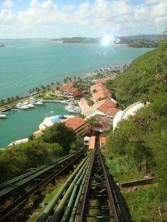 View of La Marina Village from our FUNicular!  El Conquistador Resort, Fajardo Puerto Rico