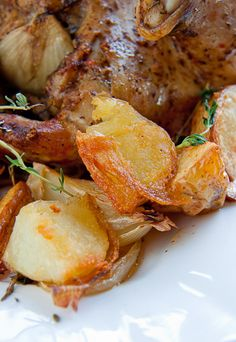 Herb Roast Chicken with Roast Potatoes