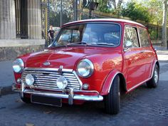 red mini cooper - there's just something cute about mini cars