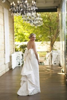 Stunning wedding dress complete with a gorgeous bow: http://www.stylemepretty.com/australia-weddings/new-south-wales-au/2013/11/15/the-verandahs-terrara-house-estate-wedding-from-blumenthal-photography/ | Photography: Blumenthal Photography - http://blumenthalphotography.com.au/