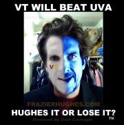 #VirginiaTech always beats #UVA in #Football. It makes you happy. -Hughes it or Lose it?