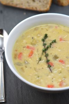 Lemon Chicken Orzo Soup - Whipped
