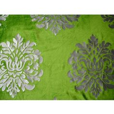 Damask Garden  Velvet Fabric With Printing Technique by FabricMart, $11.20