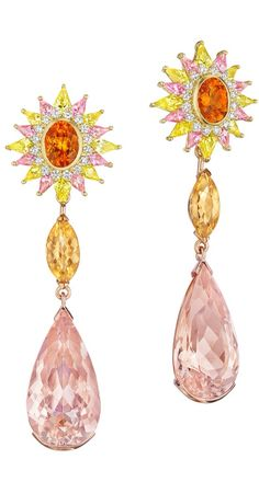{Daily Jewel} Aphrodite Earrings by Madstone aphrodite, diamonds, garnet, madston, stylejewelleri design, pink, fine jewelri, aphrodit earring, earrings