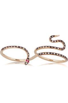 Ileana Makri - python 18K rose gold ring