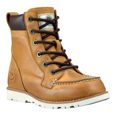 Kids' Earthkeepers® 6-Inch Moc Toe Boot #timberland #kidsboots 6inch, timberland kid, toe boot, toes, boot timberland, moc toe, boy shoe, kids, boots