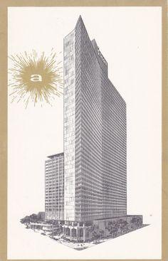 Americana Hotel of New York City- 1940s Vintage Postcard