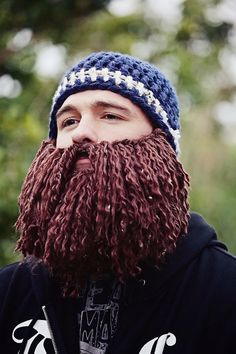 crochet beard Burly Beard Beanie Duck Dynasty Style by TenTinyPiggies, $30.00