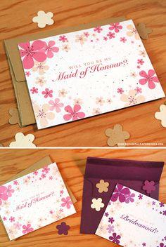 {free printable} Bridal Party Notes | Blog | Botanical PaperWorks