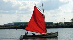 Adam Green, Rocking the Boat, and Michael Brotchner, Sustainable South Bronx, sail the Bronx River.