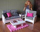 american girl doll room ideas, american doll furniture diy, living rooms, american girl diy furniture, american girl doll rooms