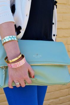 #dresscolorfully spotted in d.c. handbag, purs, cross body bags, clutch bags