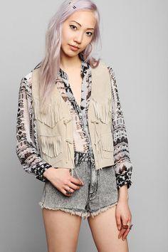 Vintage '70s Fringe Vest #urbanoutfitters #vintage