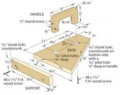 Click To Enlarge - Router-Table Push Pad
