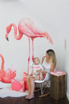 New gorgeous Flamingo decals by urbanwalls on Etsy