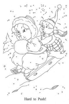 embroideri board, color, digi stamp, christma, pig, decemb digi