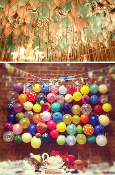 balloon wedding trend....love the mylar metallic balloons mixed with the pastels.