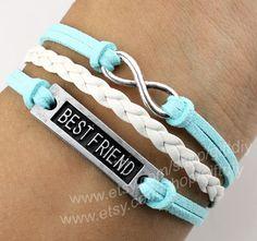 Best friend bracelet infinity bracelet Goose down line by giftdiy, $4.19 friend infin, friend ship bracelets, craft gifts for friends, best friend gifts for girls, best friend bracelets, bff, infin bracelet, bracelet infin, bestfriends gifts