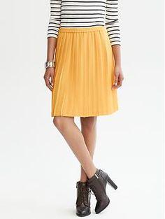 Pleated A-line skirt + color | Banana Republic