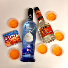 jello shot recipes, orange jello shots, diy jello shots, orange creamsicle drink, family reunions