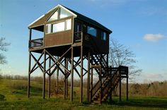 The most awesome hunting stand I've ever seen, it actually has a jacuzzi