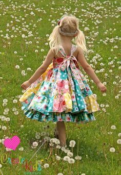 fairytale frocks and lollipops :: create kids couture, tiffany's sweetheart patchwork twirl dress, sewing, instant, girl, baby, infant, toddler, play, school, boutique, special occasion, dance, patches, stripwork, summer, spring, winter, fall, all occasi