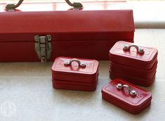 Mini tool-boxes for screws and nails. Perfect DIY gift for the handy man!