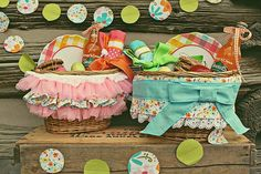 I love these picnic baskets ♡
