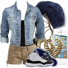 I'm not a big Jordan shoe girl but this outfit is something I would ROCK!