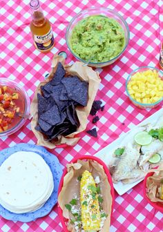 Summer Mexican meal