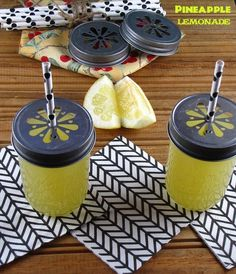 Great party drink: Pineapple Lemonade - could work great as a mocktail!