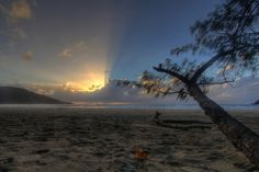 View from a beach camp at Zoe Bay. It is Hinchinbrook Island's most easterly point.